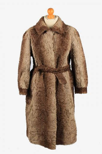 Pelzhous Kammerstatter Fur Coat Jacket Ladies Vintage Size L Brown C2295