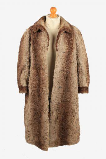 Pelzhous Kammerstatter Fur Coat Jacket Ladies Vintage Size L Brown C2295-155565