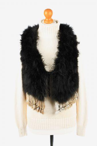 Fur Gilet Waistcoat Vintage Angelia Womens  Black C2271
