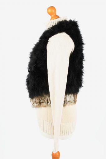 Fur Gilet Waistcoat Vintage Angelia Womens Black C2271-155407