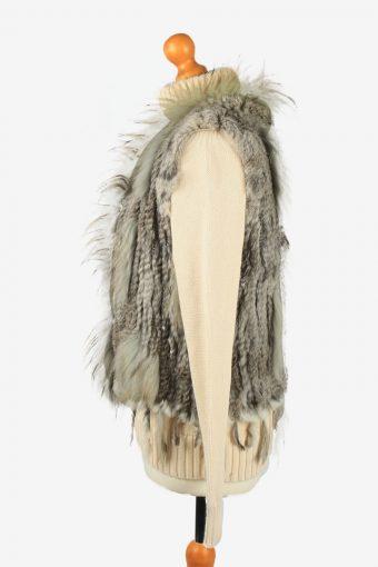 Fur Gilet Waistcoat Vintage Womens Grey C2272-155411