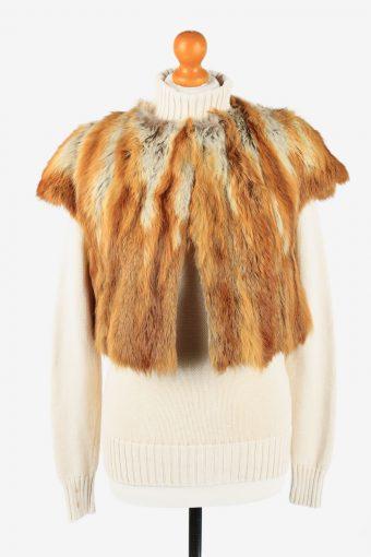 Fur Gilet Waistcoat Vintage  Womens  Coffee C2273