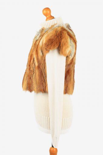 Fur Gilet Waistcoat Vintage Womens Coffee C2273-155415