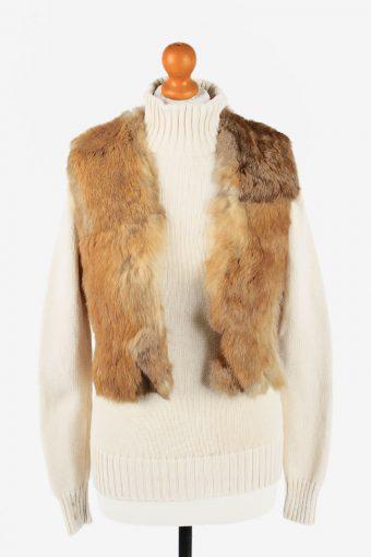 Fur Gilet Waistcoat Vintage  Womens  Coffee C2276