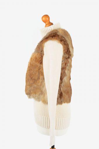 Fur Gilet Waistcoat Vintage Womens Coffee C2276-155427