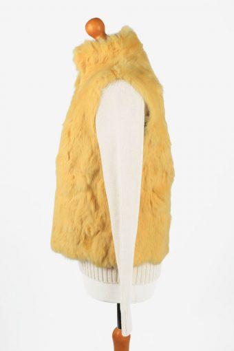 Fur Gilet Waistcoat Vintage Fushi Womens Yellow C2277-155431