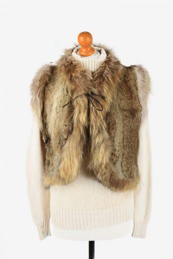 Fur Gilet Waistcoat Vintage Sinhuli Shuidiao Womens  Light Brown C2278