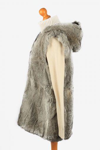 Fur Gilet Waistcoat Vintage Womens Grey C2279-155439