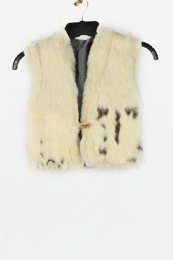 Fur Gilet Waistcoat Vintage  Womens  White C2281