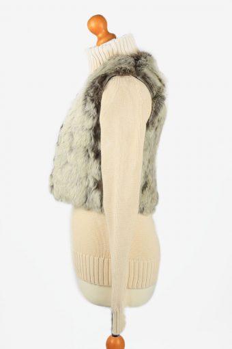 Fur Gilet Waistcoat Vintage Womens Grey C2282-155451
