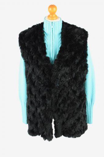 Fur Gilet Waistcoat Vintage Gerry Weber Womens L Black C2255