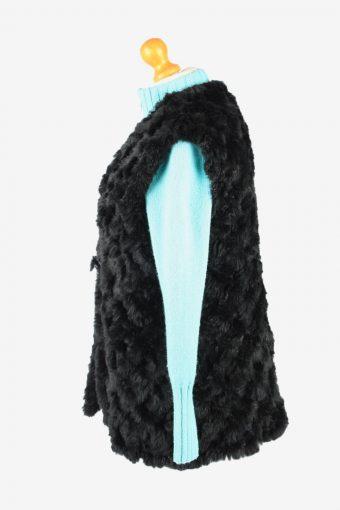 Fur Gilet Waistcoat Vintage Gerry Weber Womens L Black C2255-155087