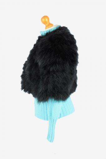Fur Gilet Waistcoat Vintage Womens 42 Black C2256-155091