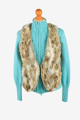 Fur Gilet Waistcoat Vintage Rosa & Rose Womens S Brown C2258