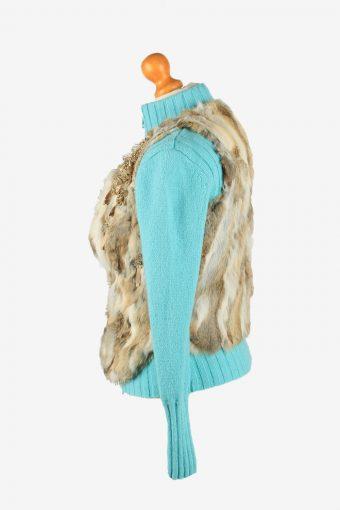 Fur Gilet Waistcoat Vintage Rosa & Rose Womens S Brown C2258-155099