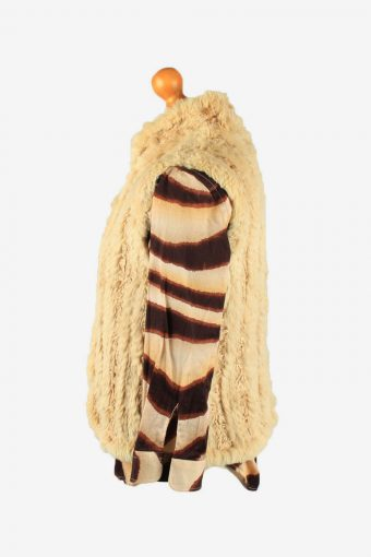Fur Gilet Waistcoat Vintage Womens UK 14 Light Brown C2264-155123