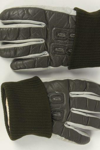 Motorbike Gloves Womens Leather Vintage Size S Grey -G494-155933