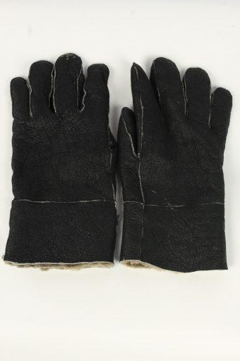 Suede Leather Gloves Vintage Mens Size XL Black