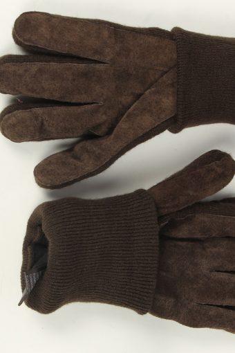 Suede Leather Gloves Vintage Mens Size XL Dark Brown -G506-156187