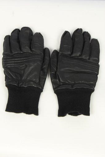 Motorbike Leather Gloves Mens Vintage Size L Black