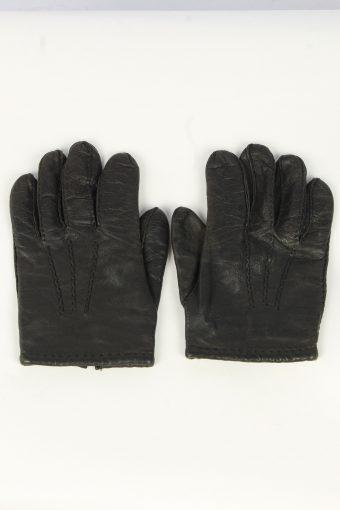 Leather Gloves Mens Vintage Size XL Black