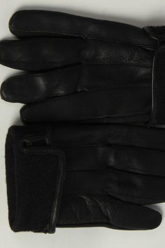 Leather Gloves Mens Vintage Size XL Black -G556-156443
