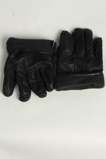 Leather Gloves Mens Vintage Size XL Black -G557-156447