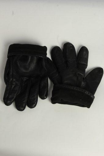 Leather Gloves Mens Vintage Size XL Black -G559-156455