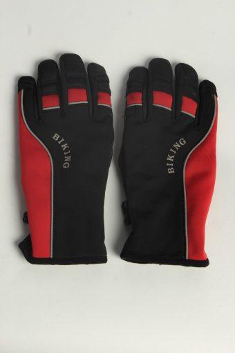 Cyling Bike Gloves Mens Vintage Size L Multi