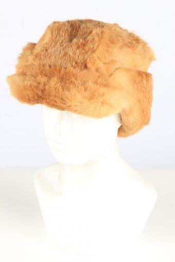 Fur Cossack Lined Hat Vintage Womens