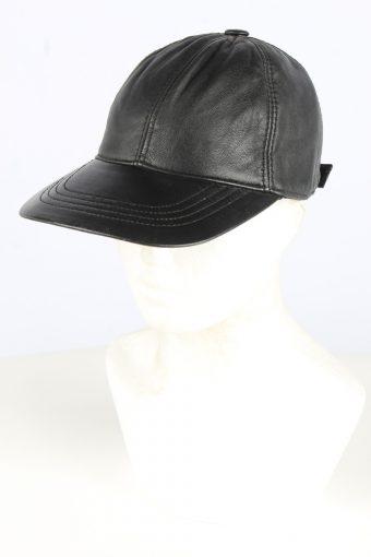 Leather Adjustable Cap Vintage Unisex Hat