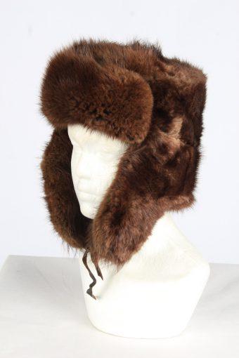 Fur Cossack Lined Hat Vintage Unisex