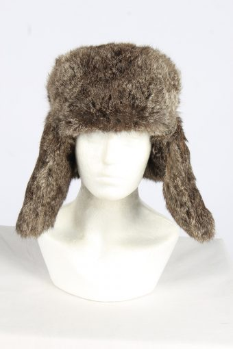 Fur Winter Cossack Hat Vintage Unisex Size L Coffee -HAT1950-155703
