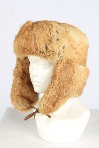 Fur Cossack Ushanka Hat Vintage Unisex