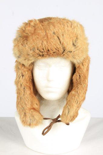 Fur Cossack Ushanka Hat Vintage Unisex Size XL Coffee -HAT1952-155711