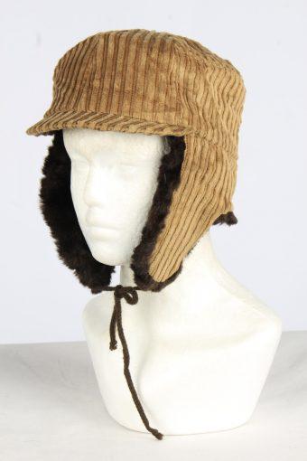 Corduroy Trapper Hat Vintage Unisex