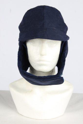 Coton Trapper Hat Vintage Unisex Size XL Navy -HAT1962-155751