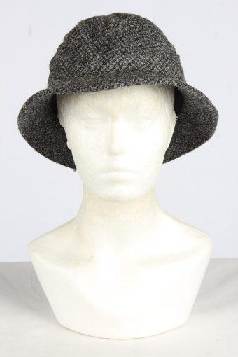 Trilby Lined Winter Hat Vintage Unisex Size M Grey -HAT1964-155759