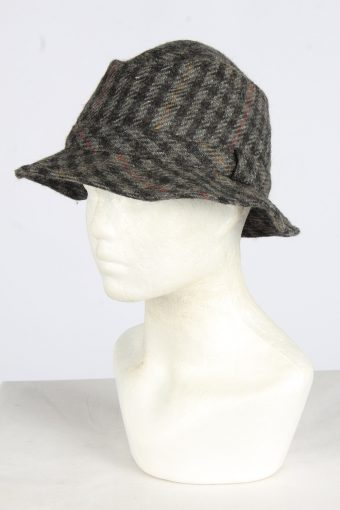 Trilby Feather Fur Hat Vintage Womens
