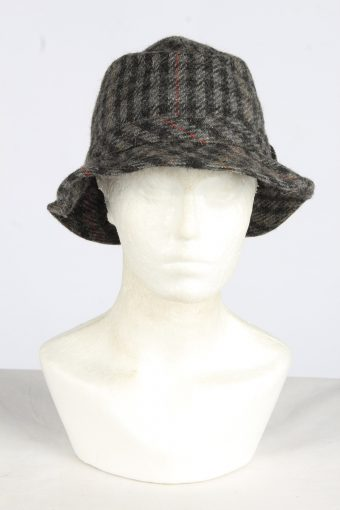 Trilby Feather Fur Hat Vintage Womens Size S Grey -HAT1965-155763