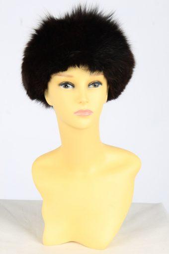 Fur Winter Cossack Hat Vintage Womens Size M Black -HAT1969-155779