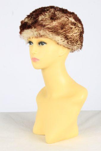 Fur Suede Ushanka Hat Vintage Womens