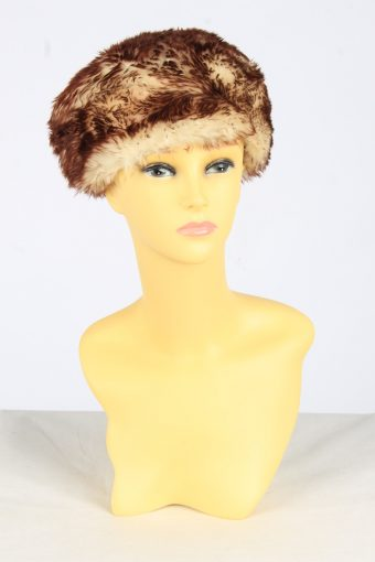 Fur Suede Ushanka Hat Vintage Womens Size XL Coffee -HAT1971-155787
