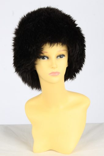 Fur Winter Cossack Hat Vintage Womens Size XS Black -HAT1972-155791