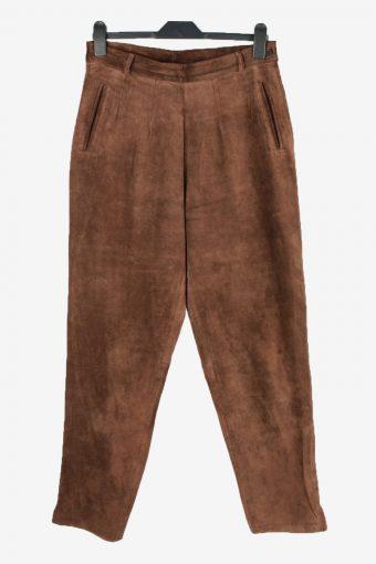Genuine Leather Jeans Side Lined Women W31 L29