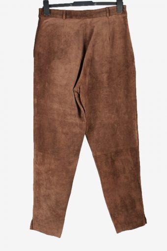 Genuine Leather Jeans Trouser Vintage Size 42 Brown -J5171-155178