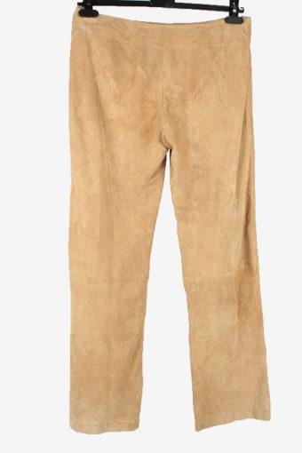 Amisu Genuine Leather Jeans Trouser Vintage Size 42 Coffee -J5172-155182