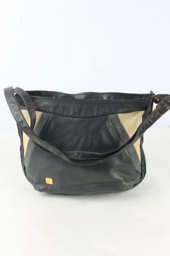 Leather Shoulder Mini Bag Womens Vintage 1990s Black