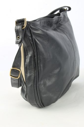 Leather Shoulder Mini Bag Womens Vintage 1990s Black -BG1262-155033