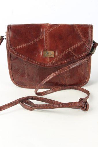 Leather Shoulder Mini Bag Womens Vintage 1990s Brown